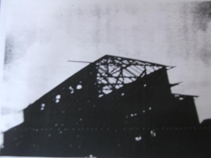 Paramounth quando estava sendo construído nos anos 1940 (Foto: Reprodução)
