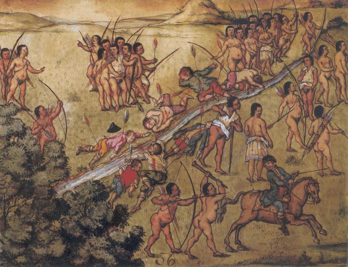 Redução é marcada por confronto entre indígenas e invasores (Imagem: Reprodução)