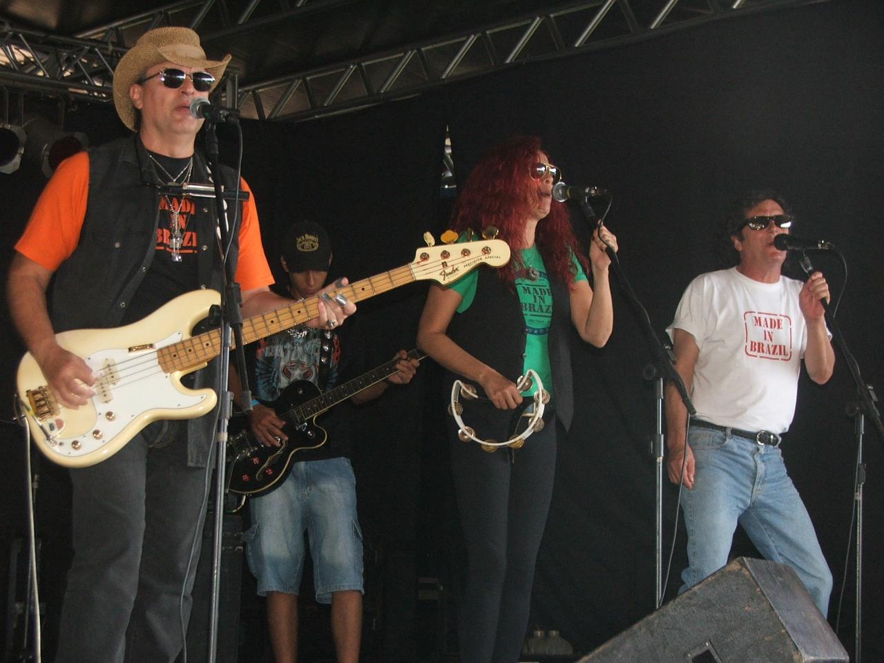 Banda durante apresentação no Parque de Exposições Presidente Arthur da Costa e Silva