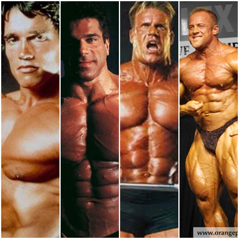 Arnold Schwarzenegger, Lou Ferrigno, Jay Cutler e Craig Titus (Foto: Reprodução)
