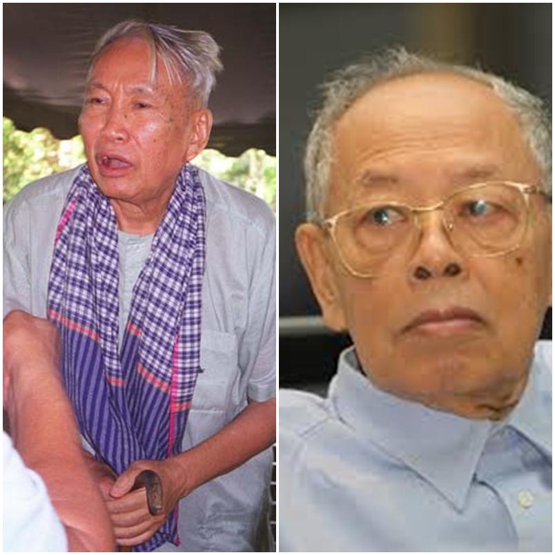 Pol Pot e Leng Sary, dois dos maiores criminosos da História do Camboja (Foto: Reprodução)