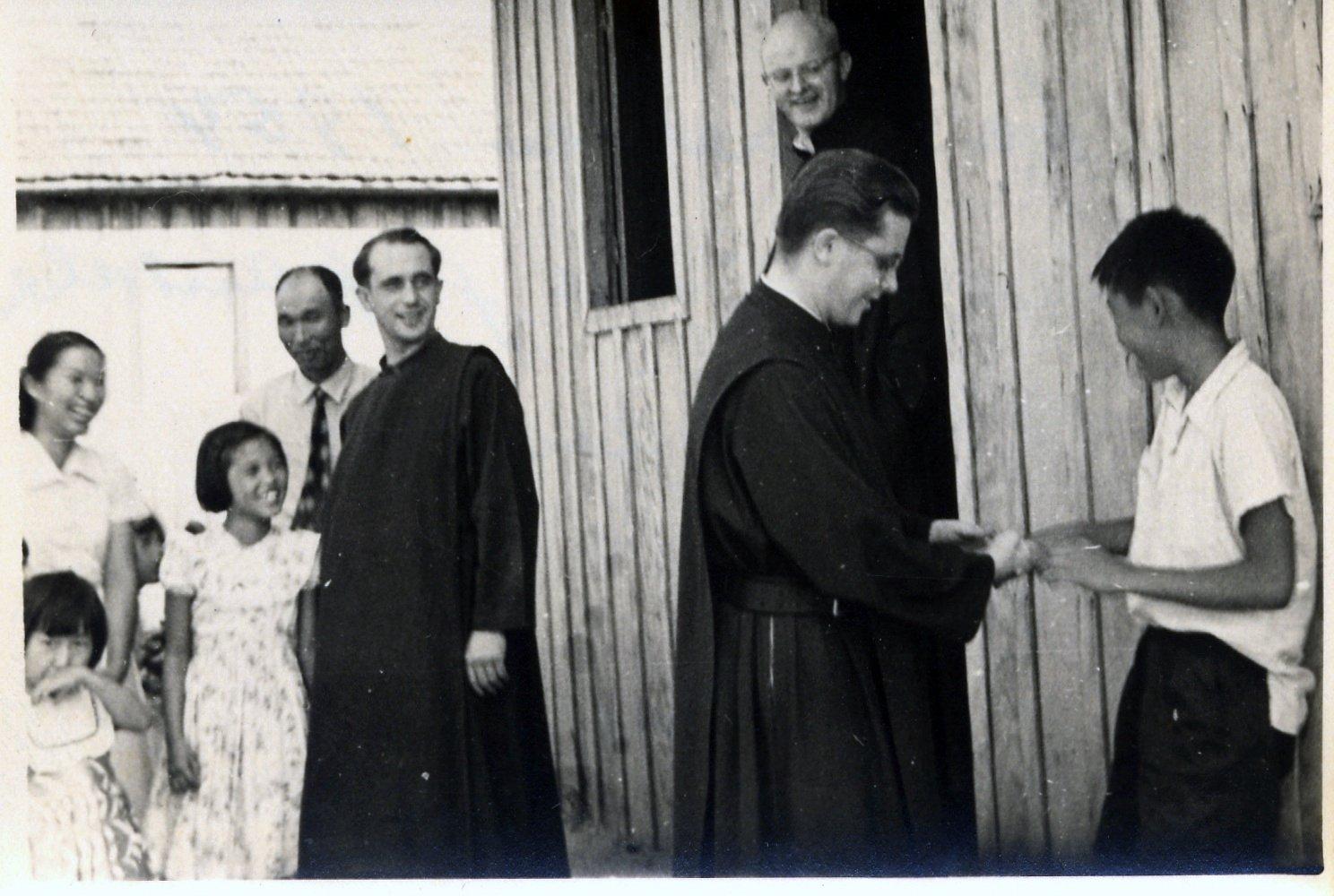 Henrique Wunderlich, Burcardo Lippert e Alberto Foerst (Acervo: Ordem do Carmo)