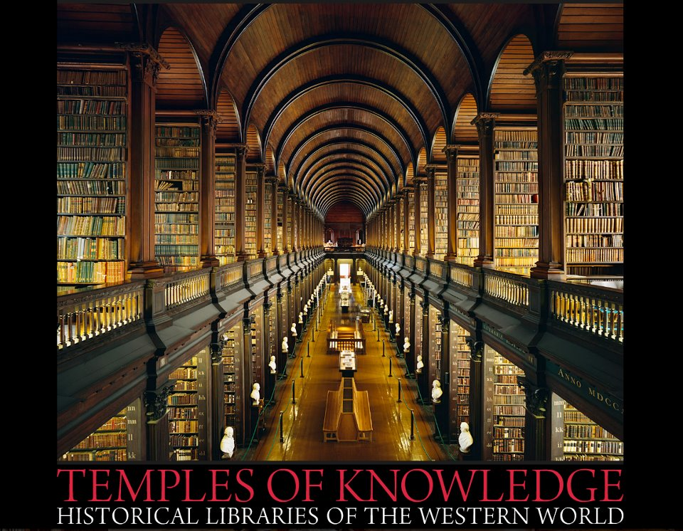 Long Room da Old Library de Dublin (Foto: Temples of Knowledge)