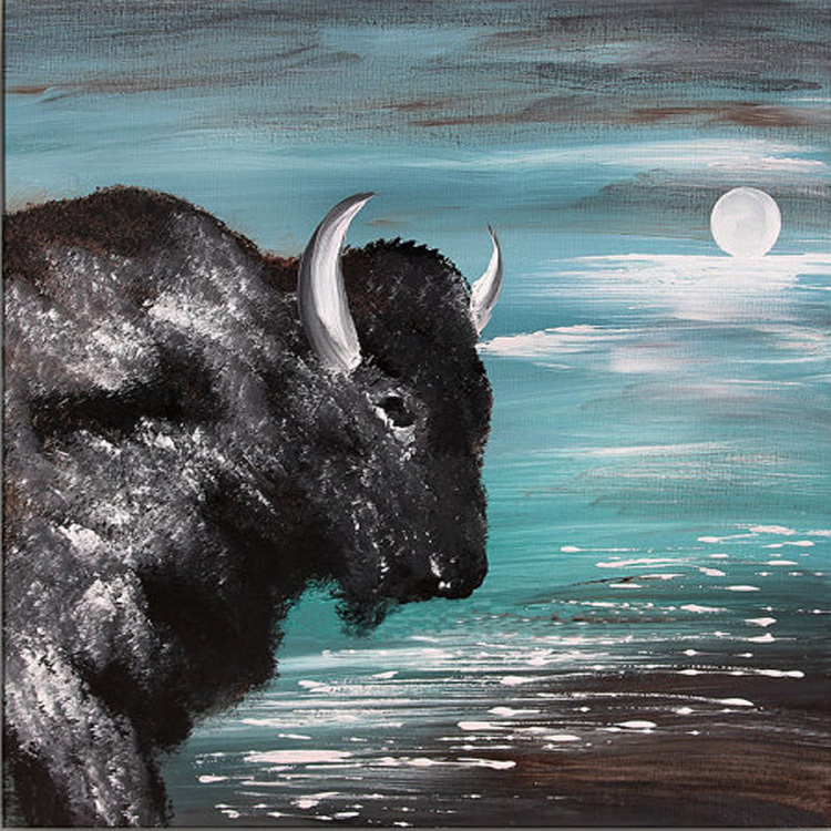 2015-new-painting-high-quality-handmade-abstract-animal-black-cattle-oil-painting-on-canvas-abstract-ox